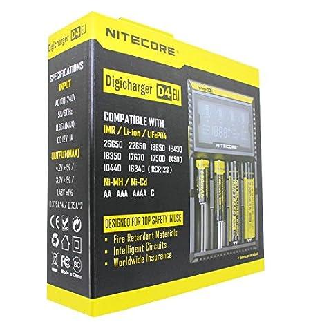 NITECORE Digicharger D4 EU - Cargador con pantalla para ...