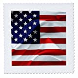 3dRose Alexis Design - America - Flag of the United States Of America. Stars to the left - 14x14 inch quilt square (qs_270543_5)