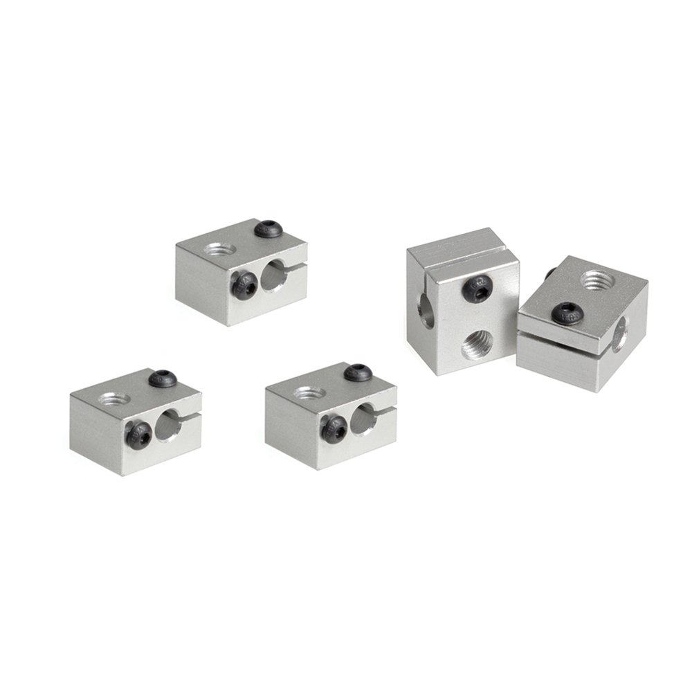5pcs of V6 Aluminum Heater Block For Makerbot 3D Printer Extruder (Silver) BALITENSEN