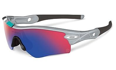 oakley radar asian fit sunglasses  oakley unisex radar path asian fit sunglasses, polished fog/+ red irid, one