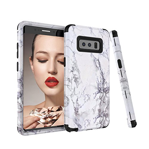 Click to buy Galaxy Note 8 Case, Fisel Marble Series Ultra 3 in 1 PC & Silicon High Impact Hybrid Drop Proof Armor Defensive Shockproof Anti Slip Full Body Protective Case for Samsung Galaxy Note 8 2017 Model - From only $4.49