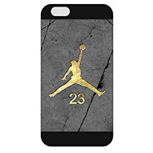 UniqueBox - Customized Black Frosted iPhone 6 Plus 5.5 Case, NBA Superstar Chicago Bulls Michael Jordan iPhone 6 Plus 5.5 Case, Only Fit iPhone 6 Plus 5.5 Case