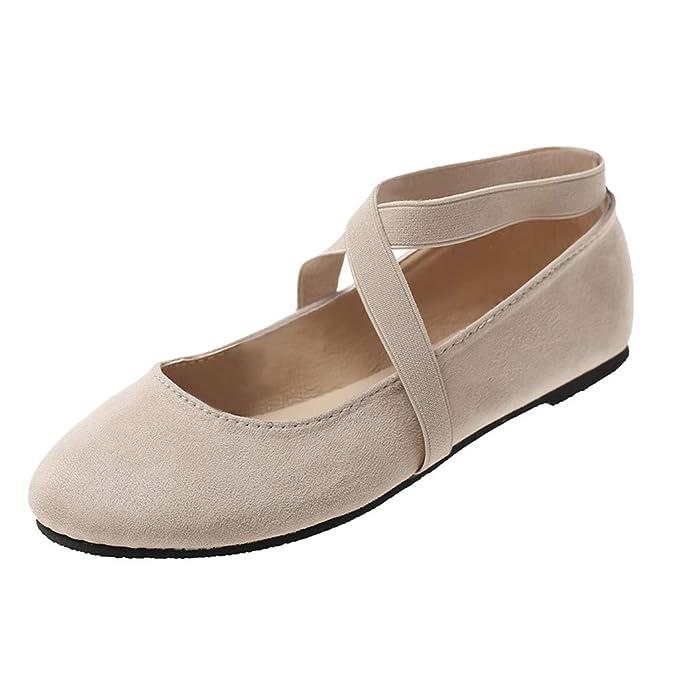 VECDY Zapatos Mujer Zapatos De Baile De Color Sólido Cabeza ...