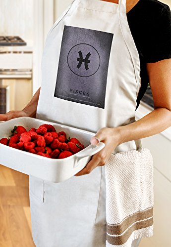 Pisces - Astrological Sign - Zodiac (Cotton/Polyester Chef's Apron)
