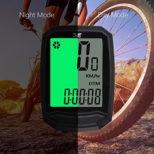 MATATA Bicycle Speedometer and Odometer Wireless Bike Cycling Computer with backlight