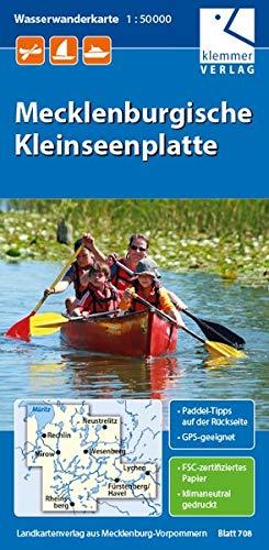 Wasserwandern Mecklenburgische Seenplatte Karte.Wasserwanderkarte Mecklenburgische Kleinseenplatte Massstab