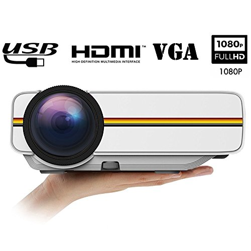 Video Projector DIWUER 1200 Lumens Full HD Home Theater P...