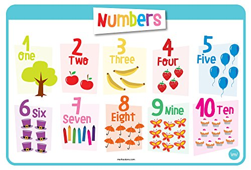 NUMBERS Educational Kids Placemats Washable product image