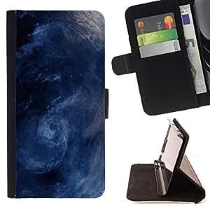 Momo Phone Case / Flip Funda de Cuero Case Cover - Tormenta Surf Sea Waves Remolino azul - Samsung Galaxy Core Prime