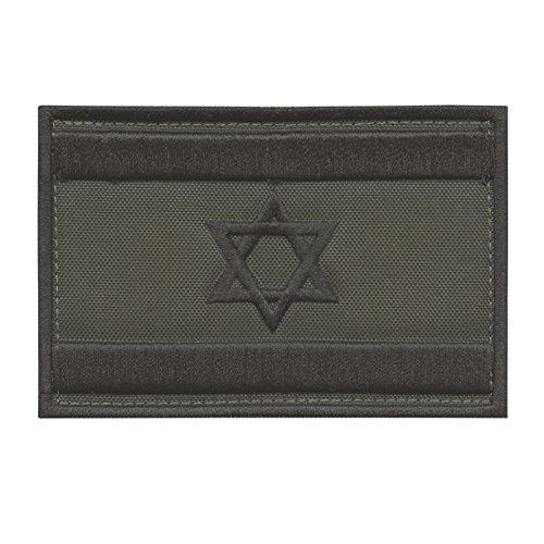 LEGEEON Olive Drab OD Israel Flag IDF Arid Morale Star David Army Embroidery Sew Iron on Patch -
