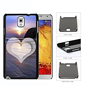 Beach Scene Sunset with Heart Hard Snap on Phone Case Cover Samsung Galaxy Note 3 N9000