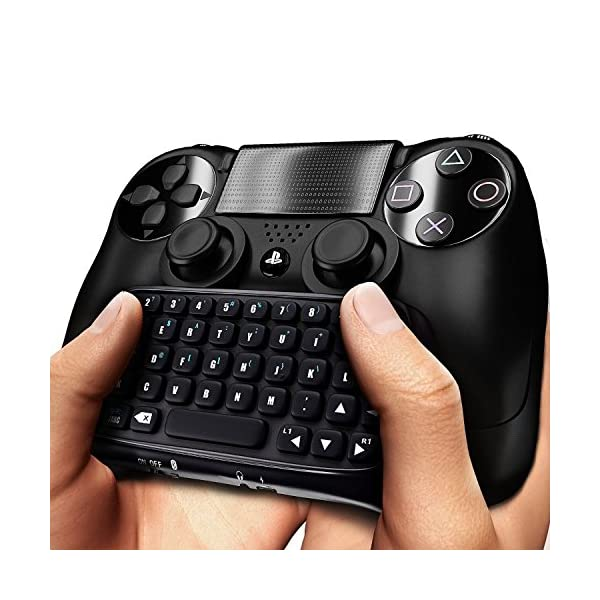 PS4 Keyboard,Prodico 2.4G Wireless Chatpad Message Keyboard for PS4 Controller Update Version 6