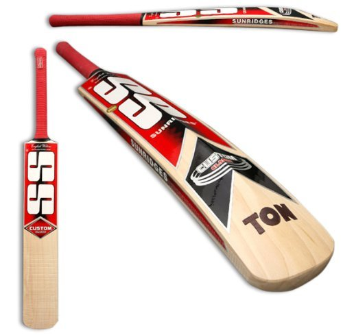 SS Sunridges Custom English Willow Cricket Bat, Short Handle, Medium Weight