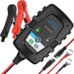 MEEARO trickle battery charger/maintainer runs 1 Amp 6 volt or 12 volt, ideal for charging/maintaining the vehicle or device with AGM, GEL, Flooded(Wet), SLA, lead acid batteries.SpecificationsBattery Type: Fit all type of 6V or 12V AGM, GEL,...