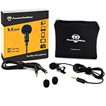 Professional Grade Lavalier Lapel Microphone  Omnidirectional Mic with Easy Clip On System  Perfect for Recording Youtube/Interview/Video Conference/Podcast/VoiceDictation/iPhone/ASMR