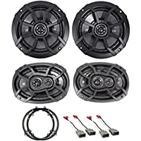 2003-2007 Honda Accord Front+Rear Kicker Factory Speaker Replacement Kit