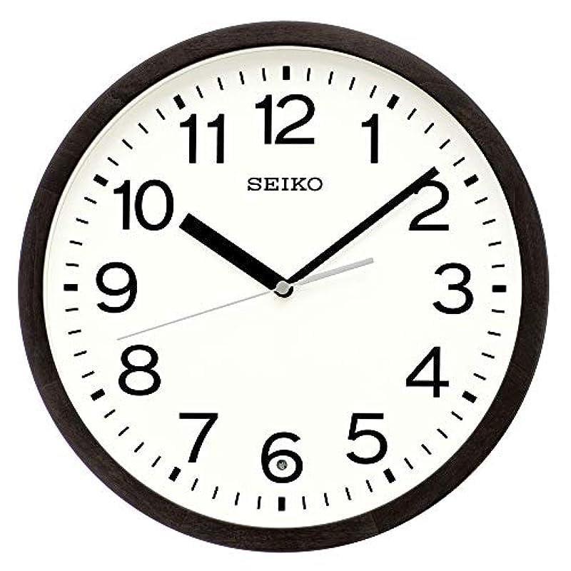 세이코 clock 벽시계 천연색 목지(나뭇결) 직경30×4.7cm 전파 아날로그 목테두리 KX249B