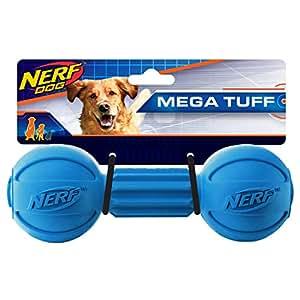 Amazon.com : Nerf Dog Barbell Chew Dog Toy, Large, Blue