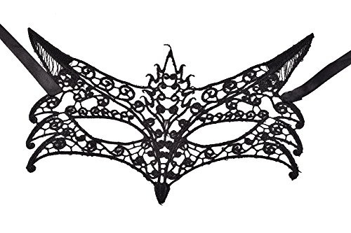 [Oxfox Lace Masquerade Mask Halloween Women Eye Mask Fancy Dress Party Style C] (Family Themed Fancy Dress Costumes)