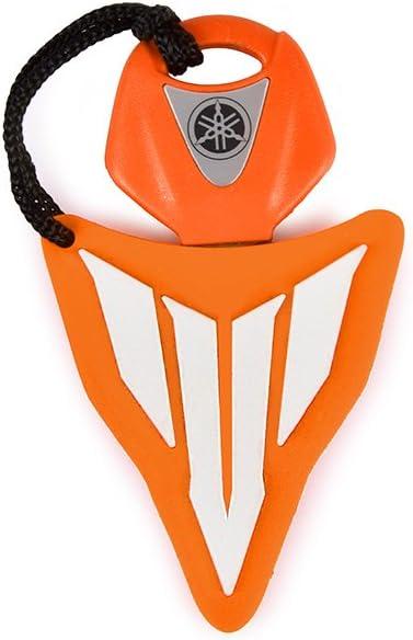 Racefoxx Schlüsselcover Schlüsselanhänger Anhänger Schlüssel Cover Motorradschlüssel Orange Weiss Für Yamaha Mt Auto