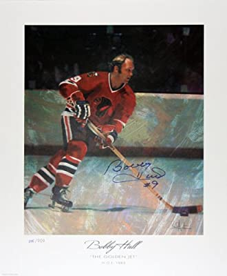 The Golden Jet Signed Lithograph Ltd. Ed. - Bobby Hull - Chicago Blackhawks