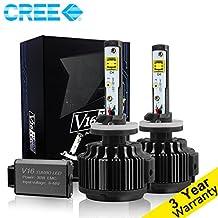 CougarMotor LED Headlight Bulbs Conversion Kit - 880 881 (893, 899) -7,200Lm 60W 6000K Cool White CREE - 3 Yr Warranty