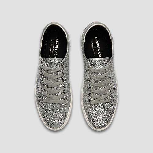 Kenneth Cole New York Donna Kam Tecnica-cole Stringata In Pelle Moda Sneaker Argento