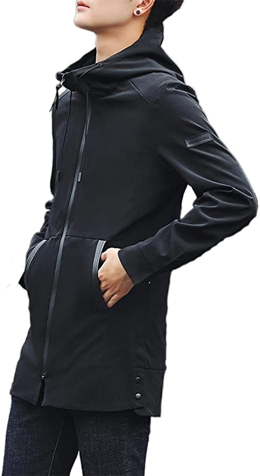 XQS Mens Warm Down Coat Casual Hooded Jacket