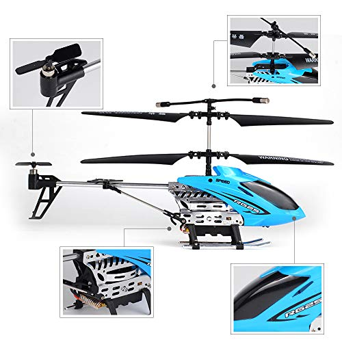INSOA TOYS Helicopter with Remote Control, 2.4GHZ Control Crash-Resistant Alloy Remote-Controlled Aircraft, Remote Control Drone Electric Toy for Kids, Boys, Teens ()
