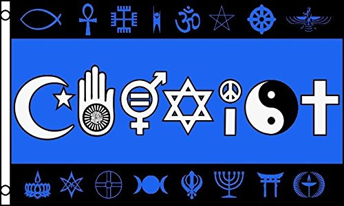 Coexist Flag World Peace Love Human Rights Banner Religion P