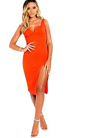IKRUSH Womens Ciara Bodycon Midi Dress at Amazon Women s Clothing store  626825639a