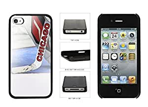 Zheng caseZheng caseChicago Goalie And Hockey Stick Plastic Phone Case Back Cover Apple iPhone 4 4s