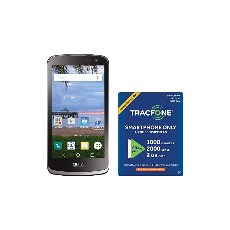 TracFone LG Fiesta 2 4G LTE Prepaid Smartphone with Amazon Exclusive