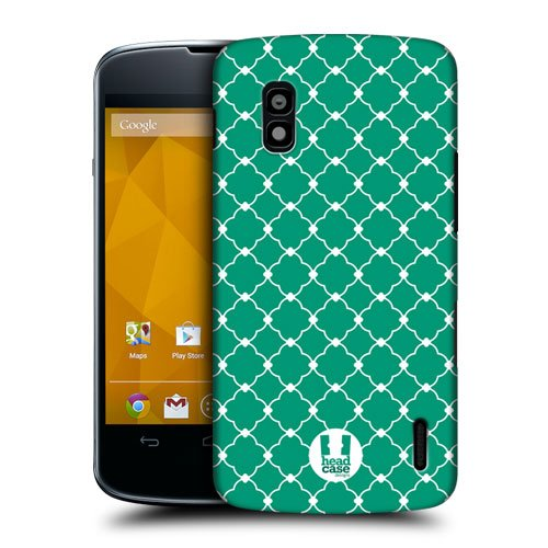 Head Case Designs Emerald Quatrefoil Protective Snap-on Hard Back Case Cover for LG Nexus 4 E960
