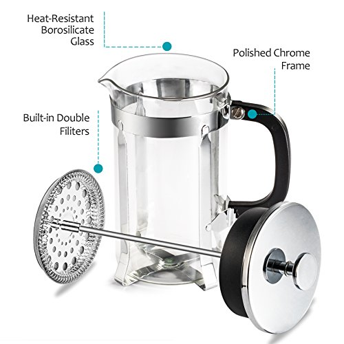 French Press Coffee Maker Problems : French Press - Zestkit French Press Coffee Maker 34 oz Coffee and Tea Press with Stainless Steel ...