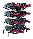 Finnhomy 12 Bottle Wine Rack, Wine Bottle Holder Free Standing Wine Storage Rack,Thicken Steel Wire, Iron, Brozen