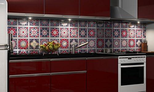 Graz Design Autocollant de protection anti-éclaboussures en PVC rigide pour cuisine 0,4 mm, plastique, H: 60cm x B: 210cm
