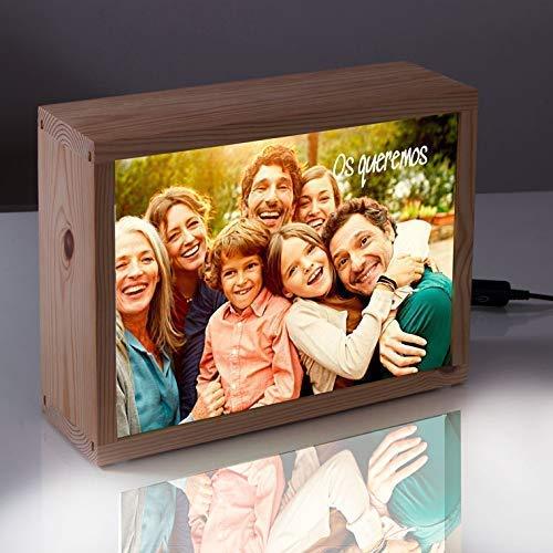 Regalo personalizado con foto-caja de luz lightbox