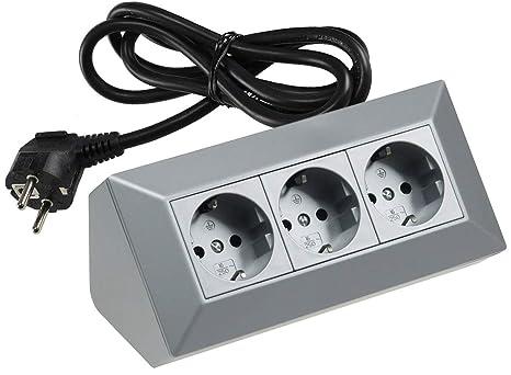 Verlängerungskabel Stromverteiler Mehrfachsteckdose Schalter 3m 3-7 Stecker