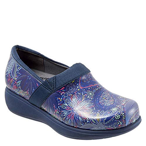 SoftWalk Women's Grey's Anatomy Meredith Blue Paisley Sport Clog (9 B(M) US) from SoftWalk