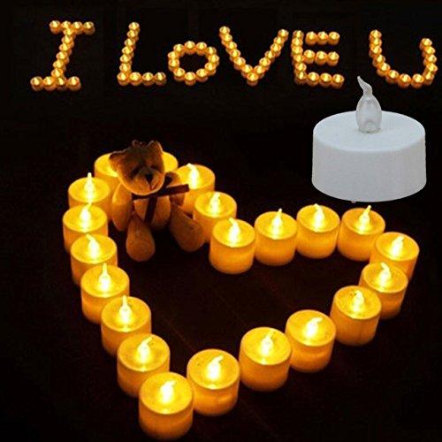 Ideal Products Boite de 30 Bougies LED avec Effet Clignotant dune Romantique lumi/ère pour lExt/érieur et lInt/érieur: sans fum/ées Saint Valentin. Halloween pour D/écoration et C/él/ébrations: No/ël
