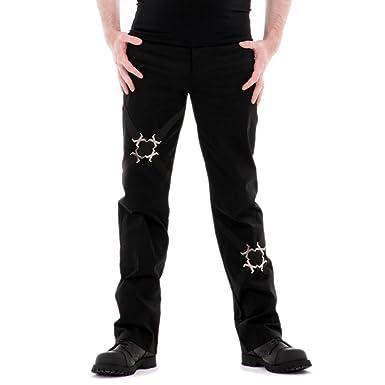 34f37ce65cc7 Re-agenz Schwarze Gothic Herrenhose Xenon Festival Jeans für Goth ...