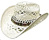Modestone Women's Cool Summery Straw Hat White