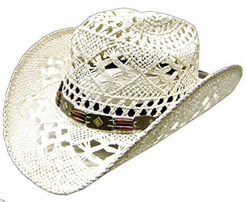 Modestone Women's Cool Summery Straw Hat White