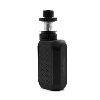 Cigarrillo electrónico Ubox Vape Starter Kit, con tanque inferior de flujo de aire inferior a ohmios y mod de caja de atomizador OLED,con puerto micro ...