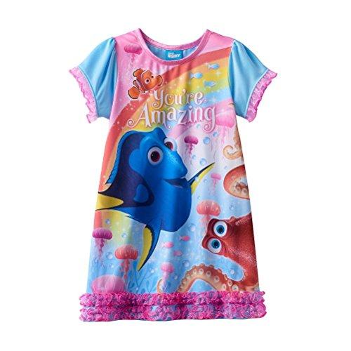 Disney Pixar Finding Dory Toddler Girls Nightgown (2T, Blue)