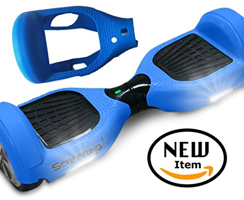 Self Balancing 2 Wheel Scooter Skin Case Wrap Cover For 6.5' Shock absorbs And Protects Board (Blue)