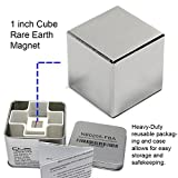 "CMS Magnetics Super Strong 1"" Neodymium Cube Magnet – Storage Box Included for Added Safety"