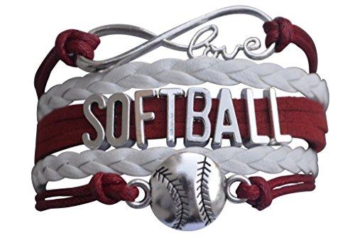 Infinity Collection Softball Gift- Softball Bracelet- Softball Jewelry -Perfect Softball Player, Team and Coaches Gifts