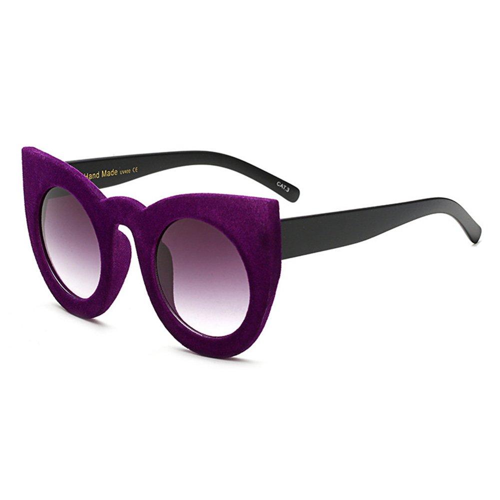 Samt Rahmen Frauen Katzenaugen Sonnenbrille hibote Retro Steigungs ...